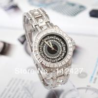 Free shipping 2013 mechanical hand wind watches full steel watch women rhinestone watches women dress watches -EMSX00196