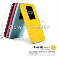 30pcs/lot Nillkin Fresh Series Ultrathin Flip Leather Case For LG Optimus G2+ retail box +DHL Free Shipping