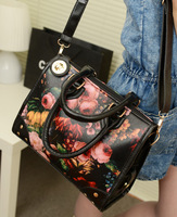 Bags 2013 women's handbag rivet national trend vintage oil painting flower bag laptop messenger bag