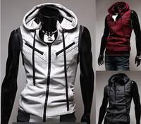 Mens Casual Top Designed Slim Fit Hooded Hoodies Vest Waistcoat