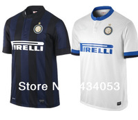 Free Shipping TOP Thai Quality Inter Milan Soccer Jersey 13 14 Inter Milan 2014 ZANETTI GUARIN MILITO PALACIO Home Away Shirt