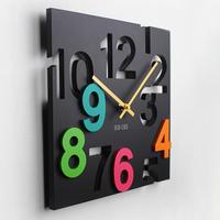 Fashion wall clock mute clock decoration cutout digital pocket watch clock