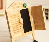 Log zakka window blinds small blackboard wool message board props home