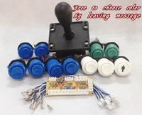 1 kit for PC joystick PCB, USB joystick PCB, USB to jamma arcade game with America style push button and joystick