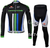 Winter Fleece Thermal 2013 CANNOND LIQUIGAS Team BLACK Long Sleeve Cycling Jersey Cycling Wear + Pants SIZE:XS-4XL