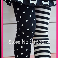 Kids Girls Dance Leggings Polka Dot Stripe Trousers Render Pants 1-9Y XL207 Free&Drop Shipping