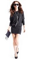 2014  fashion Golden Full Sleeves Plus Size Bandage bodyconSexy  party  Elastic Dresses  women  free shipping