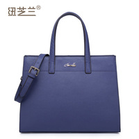 2013 Business type fashion briefcase genuine leather handbag High quality cowhide production women's shoulder bags