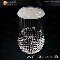 Stainless steel pendant light big chandelier lighting modern chandeliers 1 piece OM9145W