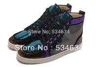 Free shipping, 2015 new handmade luxury Men leather shoes, France red bottom MEN'S FLATS original sneaker for men wholesale