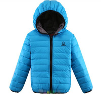 Retail 2013 Kids Zipper Candy Color Down Warm Hooded Coat/Jacket/Cardigan for 2-5 years Red Orange Purple and Blue  A153