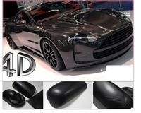 "2013 New style hot sticker 24"" x 12"" Free Shipping 4D Carbon Fiber Vinyl Film Sticker 60*30cm"