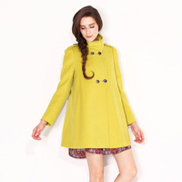 2013 autumn and winter women wool overcoat cloak woolen outerwear wd3d9104
