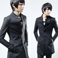 Vintage fashion personality 2013 stand collar medium-long male trench slim men's clothing outerwear