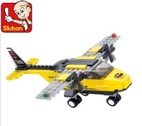 Sluban M38-B0360 110pcs 3D construction eductional Bricks Building Blocks Sets T-trainer, Airplane children toys Christmas Gifts