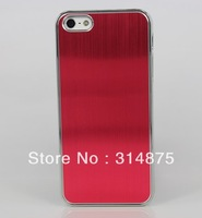 1000pcs/lot Free Shipping Luxury Deluxe Chrome Hard Aluminum Case For Iphone 5C