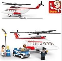 Sluban M38-B0363 259pcs 3D construction eductional Bricks Building Blocks Sets aviation world private helicopter children toys
