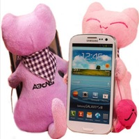 Fluffy Fuzzy Cat Shape Plush Plastic Hard Case Cover For SAMSUNG Galaxy Note II N7100, Free Shipping