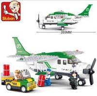 Sluban M38-B0362 251pcs 3D construction eductional Bricks Building Blocks Sets AVIATION transport children toys Christmas Gifts