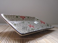 Japanese style safetying rectangular ceramic plate rectangular plate dish sushi plate fish
