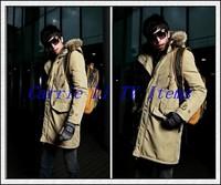 Free Shipping 50pcs/lot Men's Fashion Casual Warm Cotton Coat Thicken Jacket Winter Autumn for Man