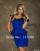 Free Shipping ML17895 Newly Design sexy party wear Prom Dress High Quality Peplum mini dress