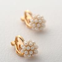 Elegant small rice grain pearl earrings stud earring no pierced earrings earring