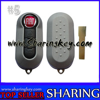 3 Button Flip Remote key cover for Fiat Panda Punto Brava Stilo Gray Colour
