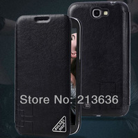 High quality Luxury Retro Leather Case Cover for Samsung Galaxy Note II 2 N7100 with Stand New Arrival, Free Shipping!