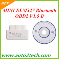 2013 MINI ELM327 Bluetooth OBD2 V1.5 B white color free shipping
