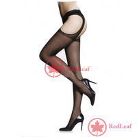 [Hot] Sexy Lady Women Lace Open Soft Tights Fashion Elastic Pantyhose Stockings Black wholesale