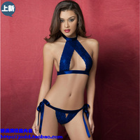 Sexy open file chest a loaded three-bikini female fashion sd23