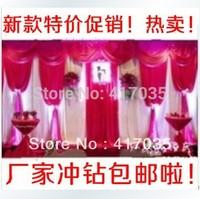 1 Set Free Shipping 3x6m Luxury White Wedding Backdrop with Beatiful Swag Wedding drape and curtain wedding decoration