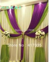 1 Set Free Shipping Wedding gauze background, Romantic stage decoration,Backdrops