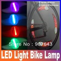 7LEDs RGB 5050 Bicycle Wheel Spoke Tyre LED Bright Light Bike Lamp waterproof bike decoration lights Super Bright Free Shipping