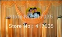 1 Set Free Shipping New Design White Swag Wedding Backdrop Curtain China
