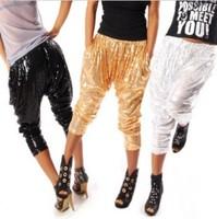 Costume ds lead dancer clothing hiphop hip-hop hiphop jazz pants clothes male Women paillette trousers