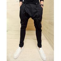 Punk non-mainstream men's clothing harem pants  male taper pants middlelowlevel pants hiphop jeans skinny pants