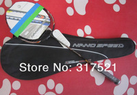 badminton racquet nanospeed 9900 100% carbon fibre free shipping 1 piece/lot  branded badminton racket