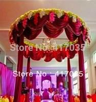1 Set Free Shipping Luxury Wedding Backdrop with Beautiful Swag Wedding Drape And Curtain Wedding Decoration Customized