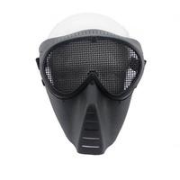 Outdoor Sports CS Survival War Game Metal Mesh Flies Proof Bulletproof Airsoft Paintball Movie Prop Goggle Full Face Mask Visor