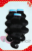 Beauty Supplies FreeShip 5A Unprocessed Peruvian Virgin Hair Extentions Body Wave 3pc lot  Mixed Length Natural Color Hair Weft