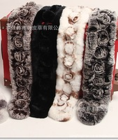 Pure Rabbit Fur scarfs ball Soft hair Long style Gorgeous color Scarves Comfortable Winter Woman