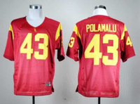 #43 Troy Polamalu college football jersey,USC Trojans.