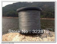 Free shipping wholesale 1500yds gray 8LB---------100LB braided fishing line dyneema