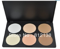 Free Shipping 6 Color blush Women Makeup Cosmetic Contour Shading Concealer Powder Palette 1#