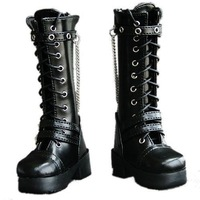 45# Black 1/4 MSD AOD DZ DOD BJD Dollfie Leather Boots/Shoes