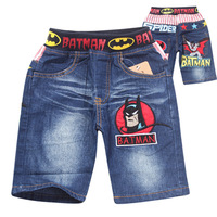 Hot Sale,6pcs/Lot!New arrivals 2014 Summer Baby Boy Cartoon Batman Denim Shorts Pants Kids Children Fashion Jeans Baby Clothing