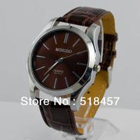 10 Pcs  Men Sports Watches Leather Band Quartz Wrist Watches