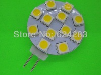 Free shipping 5pcs/lot G4 12 Warm White SMD LED 5050 Light Home Car RV Marine Boat Lamp Bulb DC-12V Wholesale